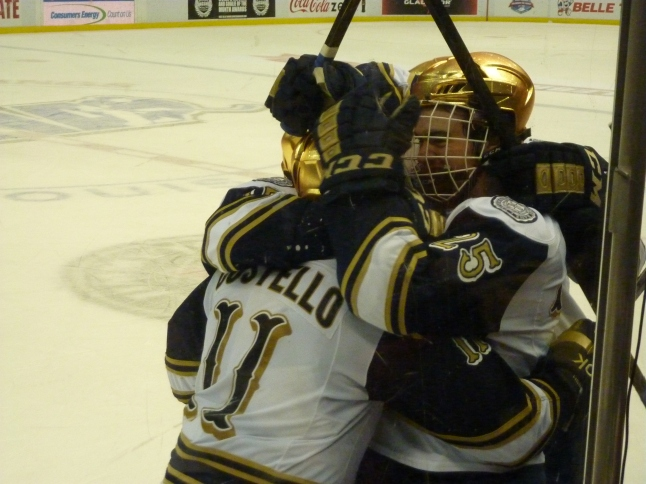 the celebration after ND's second goal